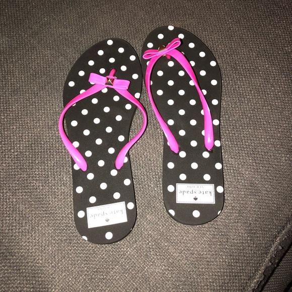 4ad3c8852462 kate spade Shoes - Kate Spade Polka Dot Bow Flip Flops